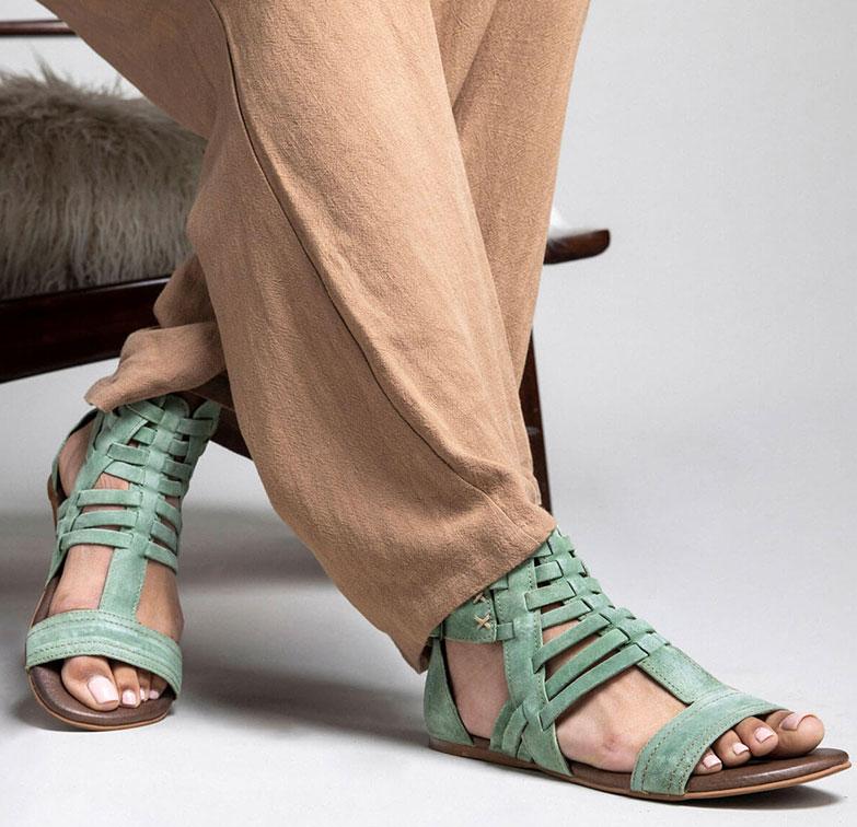 original women's leather sandals on sale roan